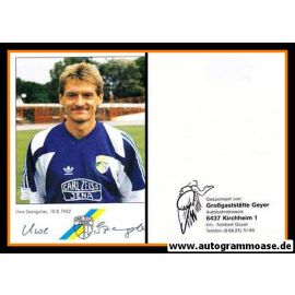 Autogramm Fussball   FC Carl Zeiss Jena   1991   Uwe SZANGOLIES
