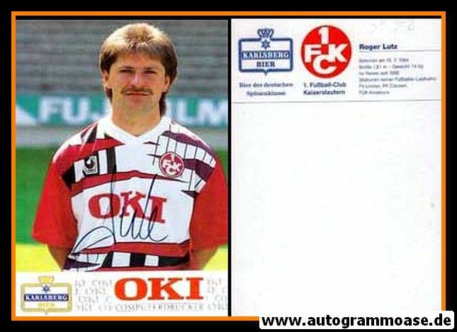 Autogramm Fussball | 1. FC Kaiserslautern | 1991 | Roger LUTZ