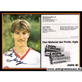 Autogramm Fussball   Fortuna Köln   1985   Leo LAZARO