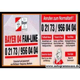 Autogrammkarte Fussball | Bayer Leverkusen | 1990er | FAN-LINE