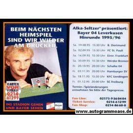 Autogrammkarte Fussball | Bayer Leverkusen | 1995 | HINRUNDE
