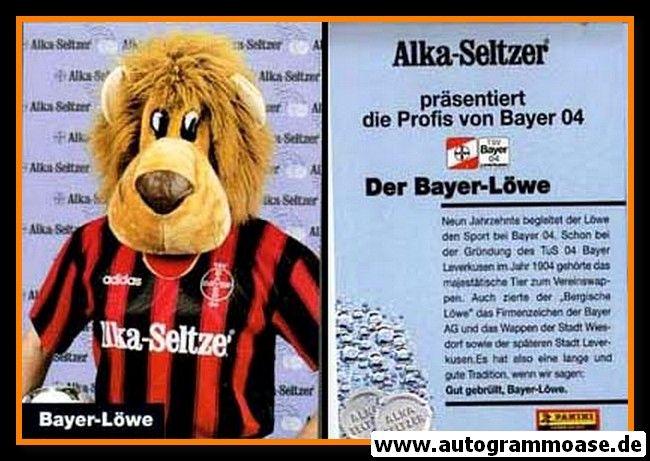 Autogrammkarte Fussball | Bayer Leverkusen | 1995 | BAYER-LÖWE (Maskottchen)
