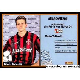 Autogramm Fussball   Bayer Leverkusen   1995   Mario TOLKMITT