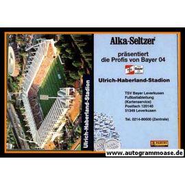 Autogrammkarte Fussball   Bayer Leverkusen   1995   ULRICH-HABERLAND-STADION