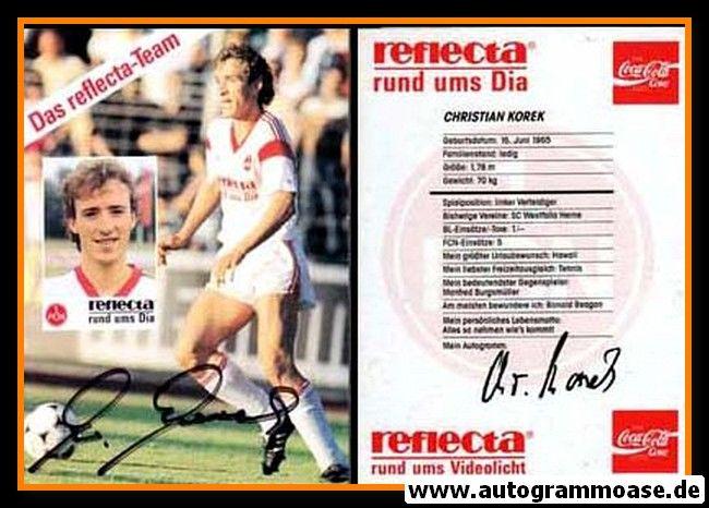 Autogramm Fussball   1. FC Nürnberg   1989   Christian KOREK