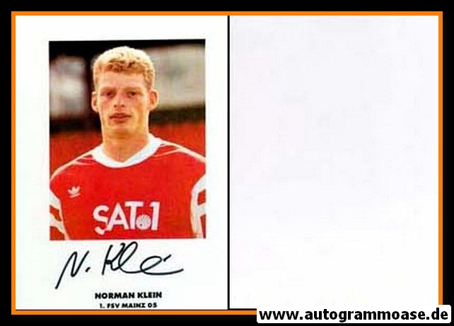 Autogramm Fussball | FSV Mainz 05 | 1990 | Norman KLEIN