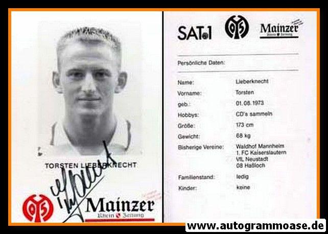 Autogramm Fussball   FSV Mainz 05   1995   Torsten LIEBERKNECHT