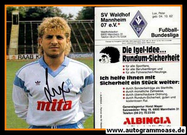 Autogramm Fussball | SV Waldhof Mannheim | 1988 | Peter LUX