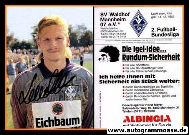 Autogramm Fussball | SV Waldhof Mannheim | 1990 | Kari LAUKKANEN