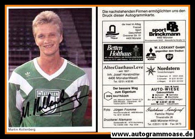 Autogramm Fussball | Preussen Münster | 1990 | Martin KOLLENBERG