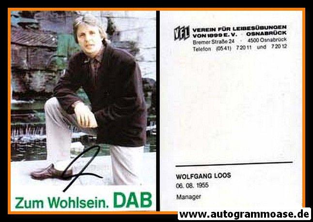 Autogramm Fussball | VfL Osnabrück | 1990 | Wolfgang LOOS