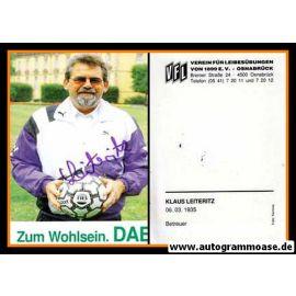 Autogramm Fussball   VfL Osnabrück   1991   Klaus LEITERITZ