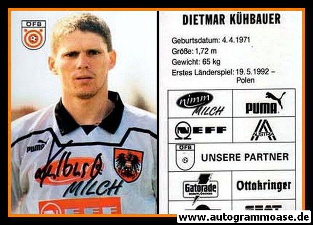 Autogramm Fussball | Österreich | 1995 | Dietmar KÜHBAUER
