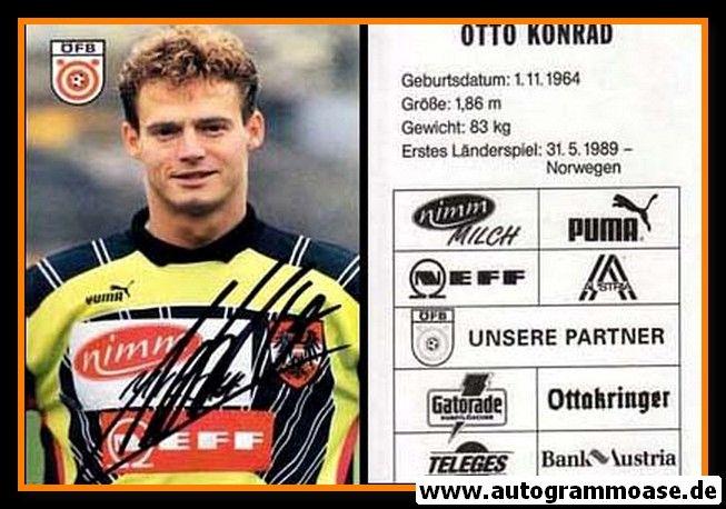 Autogramm Fussball | Österreich | 1995 | Otto KONRAD