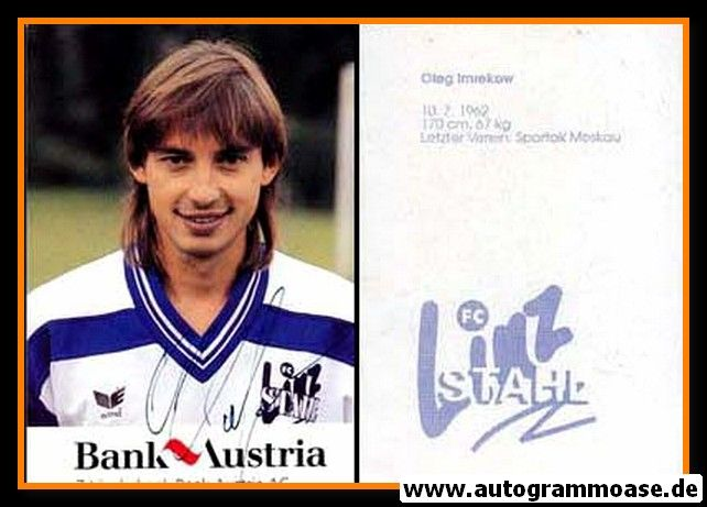 Autogramm Fussball   LASK Linz   1990er   Oleg IMREKOV