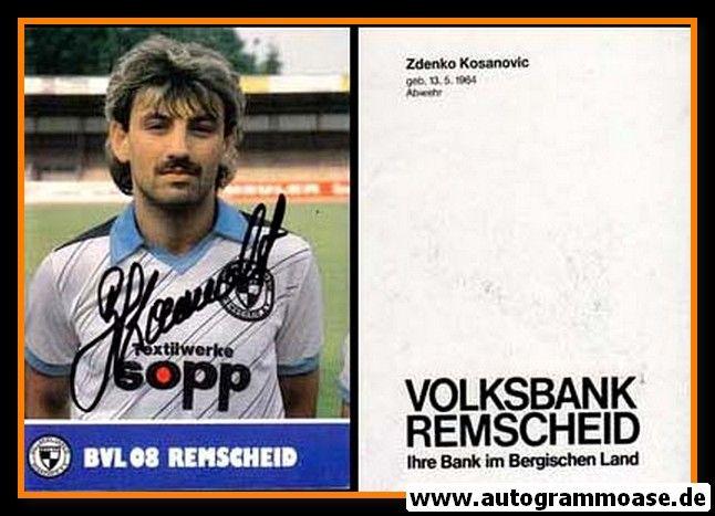 Autogramm Fussball | FC Remscheid | 1988 | Zdenko KOSANOVIC