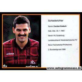 Autogramm Fussball   Schiedsrichter   1997 Erima   Carsten KADACH