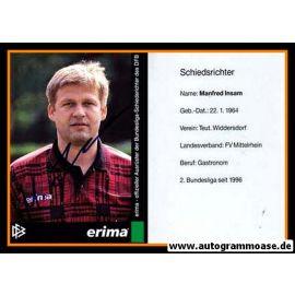 Autogramm Fussball | Schiedsrichter | 1997 Erima | Manfred INSAM