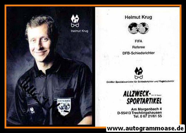 Autogramm Fussball | Schiedsrichter | 1993 FIFA | Helmut KRUG