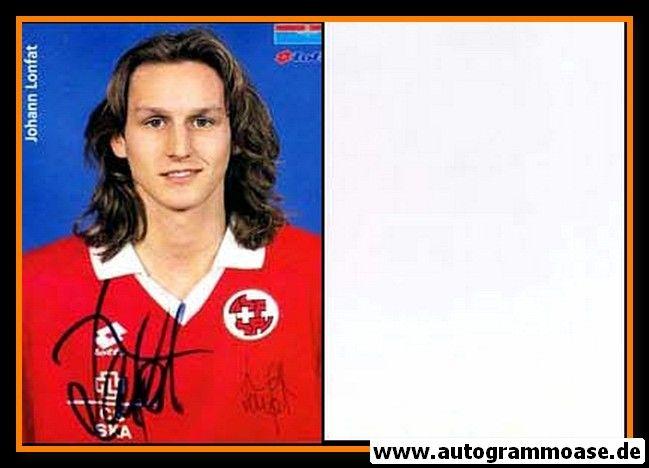 Autogramm Fussball   Schweiz   1996 Lotto   Johann LONFAT