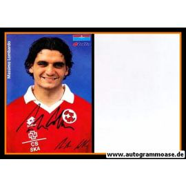 Autogramm Fussball   Schweiz   1996 Lotto   Massimo LOMBARDO