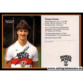 Autogramm Fussball | VfB Stuttgart | 1984 | Thomas KEMPE