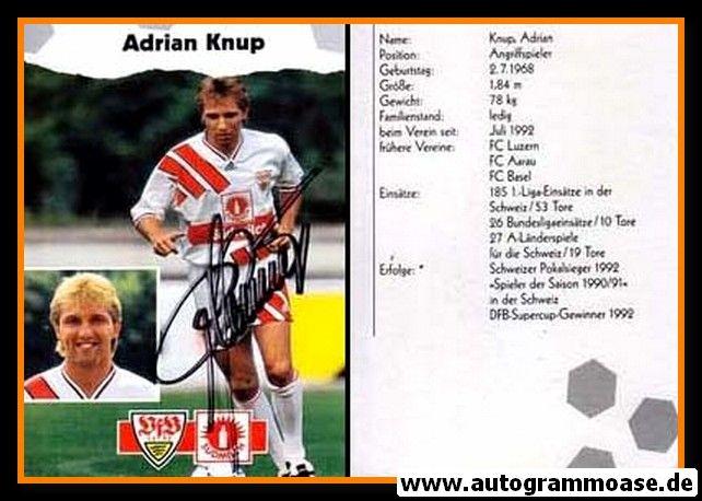 Autogramm Fussball   VfB Stuttgart   1993   Adrian KNUP