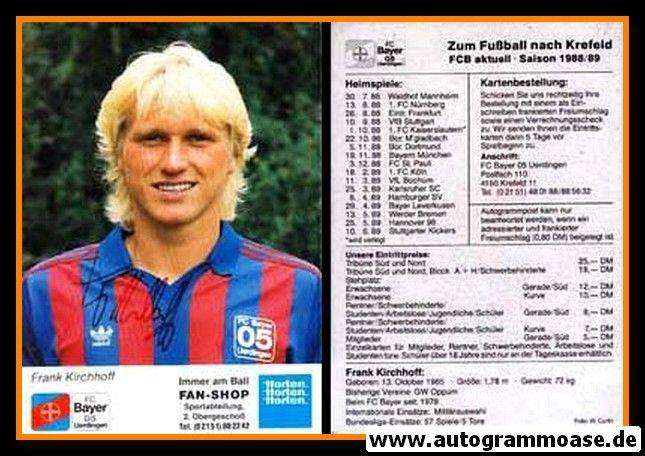 Autogramm Fussball | KFC Uerdingen 05 | 1988 | Frank KIRCHHOFF
