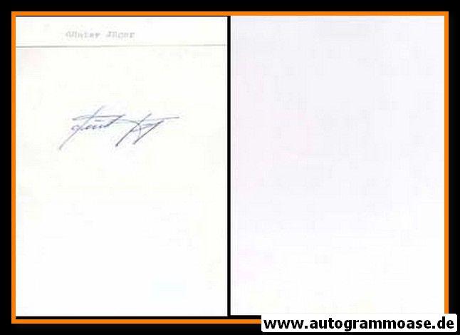 Autograph Fussball   Günter JÄGER