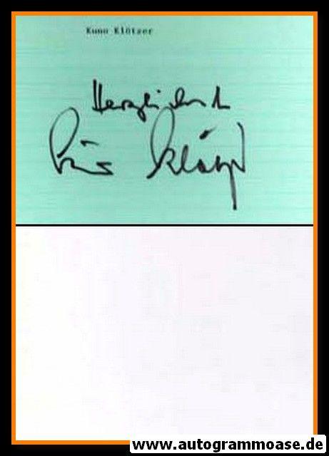 Autograph Fussball   Kuno KLÖTZER