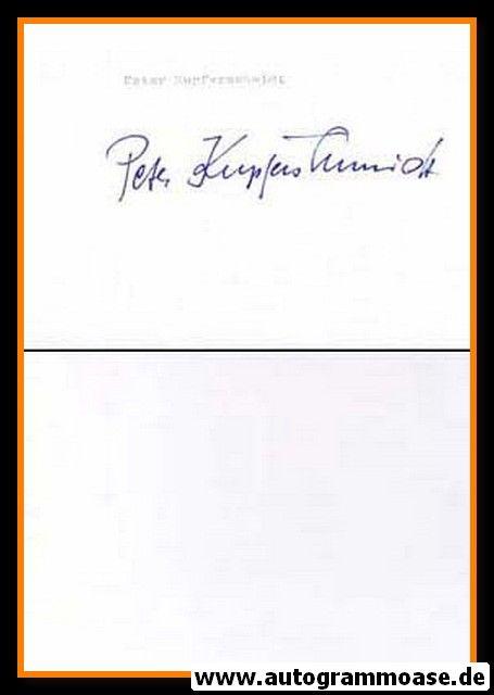Autograph Fussball | Peter KUPFERSCHMIDT