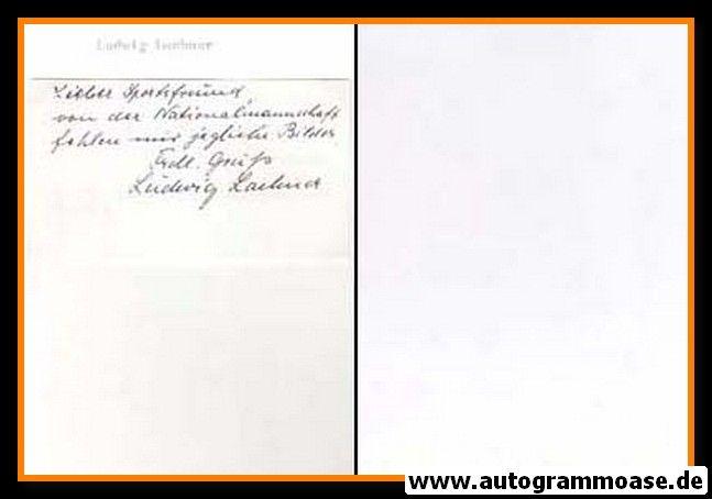 Autograph Fussball | Ludwig LACHNER