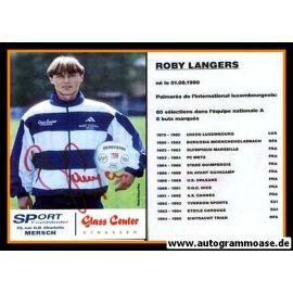 Autogramm Fussball | Luxemburg | 1990er | Roby LANGERS