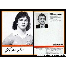 Autogramm Fussball | DFB | 1980er | Thomas KEMPE (Wüstenrot SW)