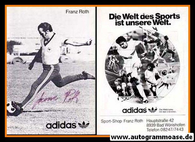 Autogramm Fussball   DFB   1970er Adidas   Franz ROTH (Spielszene SW)