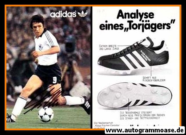 Autogramm Fussball | DFB | 1982 Adidas | Klaus FISCHER