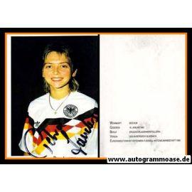 Autogramm Fussball (Damen) | DFB | 1980er | Petra LANDERS