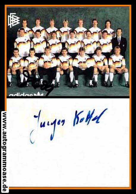 Mannschaftskarte Fussball   DFB   1988 Adidas + AG