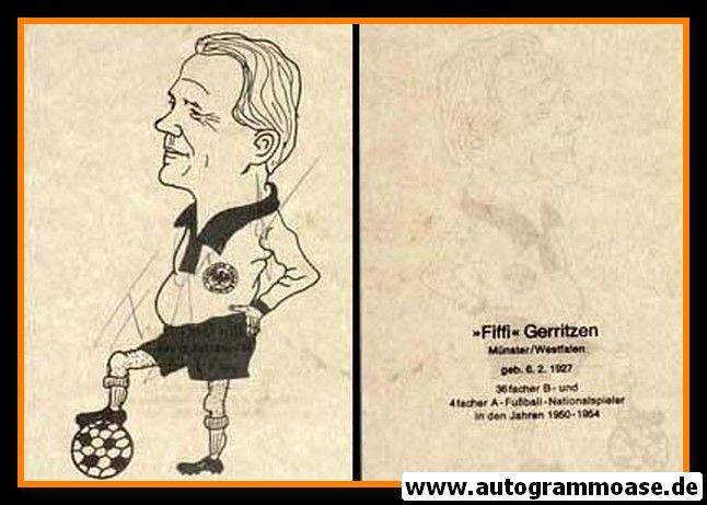 Autogramm Fussball | DFB | Felix GERRITZEN (Zeichnung)