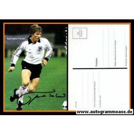 Autogramm Fussball | DFB | 1982 Adidas | Karl-Heinz FÖRSTER