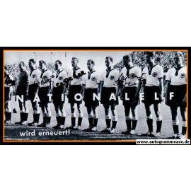 Mannschaftsfoto Fussball | DFB | 1956 + 4 AG (Biesinger, Eckel, Erhardt, Pfaff) Schweden