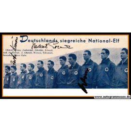 Mannschaftsfoto Fussball | DFB | 1957 + 4 AG (Erhardt, Kraus, Schmidt, Wewers) Niederlande