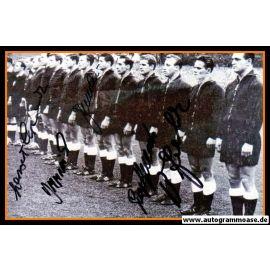 Mannschaftsfoto Fussball | DFB | 1959 + 6 AG (Benthaus, Erhardt, Schmidt, Seeler, Stollenwerk, Szymaniak) Niederlande