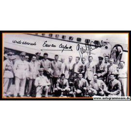 Mannschaftsfoto Fussball | Italien | 1950 + 2 AG (Emilio CAPRILE + Giuseppe CASARI) Flughafen
