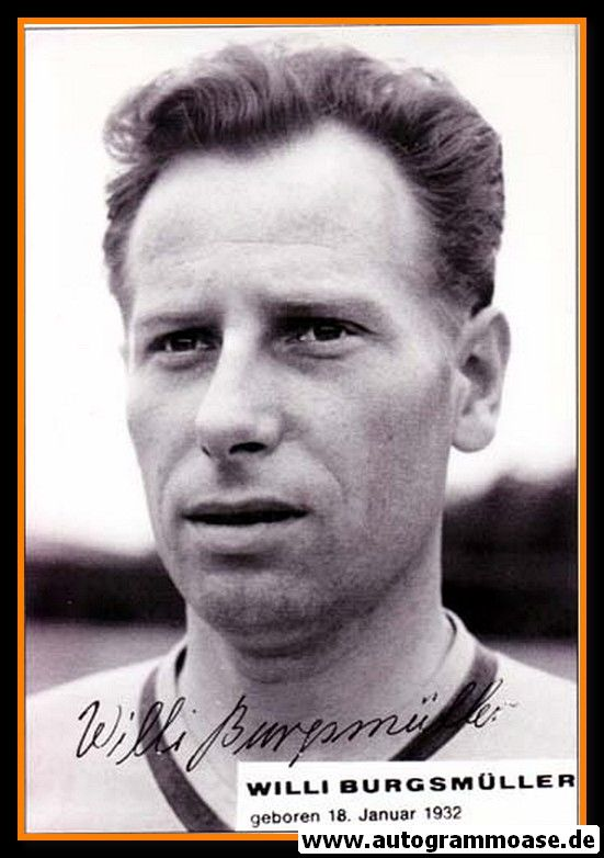 Autogramme Fussball | Borussia Dortmund | 1950er | Willi BURGSMÜLLER (Portrait SW)