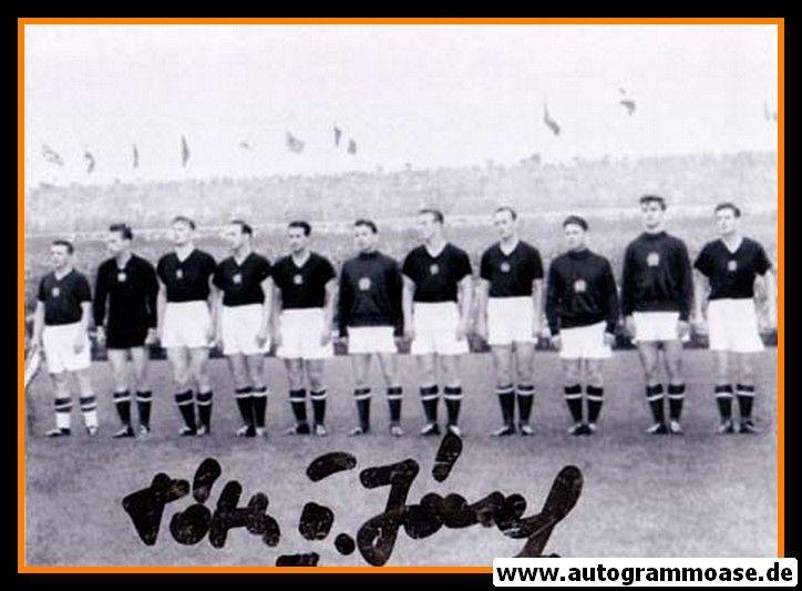 Mannschaftsfoto Fussball   Ungarn   1950er + AG Jozsef TOTH (Spiel DFB)