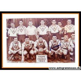 Mannschaftsfoto Fussball | OSC Lille | 1953 + 2 AG (PENVERNE + VINCENT) Pokal