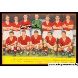 Mannschaftsfoto Fussball | Manchester United | 1956 + AG Bill FOULKES