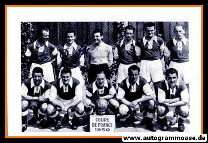 Mannschaftsfoto Fussball | Stade Reims | 1950 + AG Armand PENVERNE (Pokalsieg)
