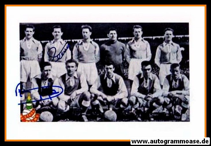 Mannschaftsfoto Fussball | Stade Reims | 1955 + 2 AG (KOPA + PENVERNE)